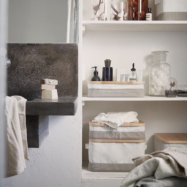RABBLA krabice s přihrádkami 25 cm 35 cm 10 cm