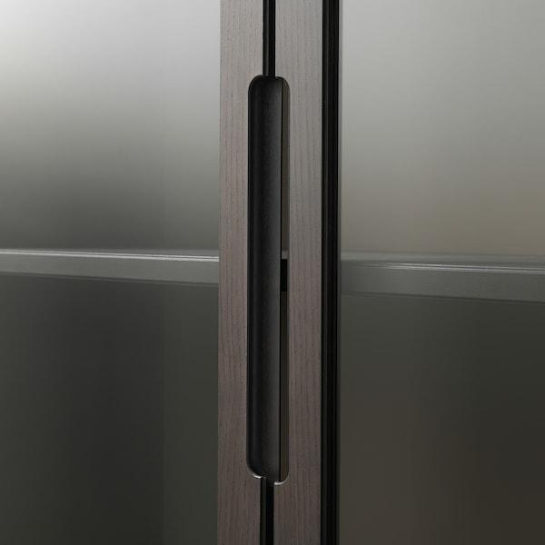 REGISSÖR Vitrína, hnědá, 118x203 cm