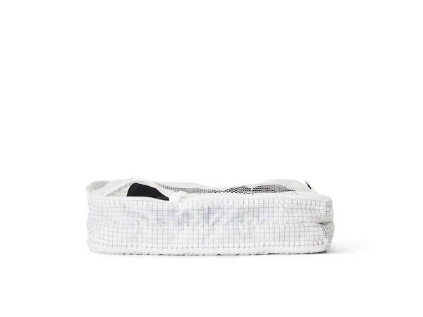 RENSARE Taška na oblečení s přihrádkou, vzor kostka/bílá