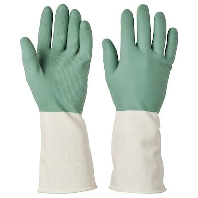 RINNIG Úklidové rukavice, zelená, střední