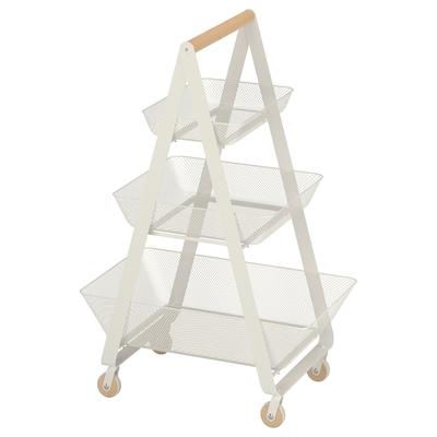RISATORP Vozík, bílá, 57x39x86 cm