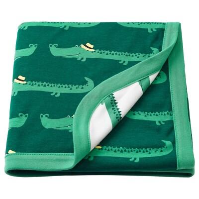 RÖRANDE dětská deka krokodýl/zelená 100 cm 80 cm