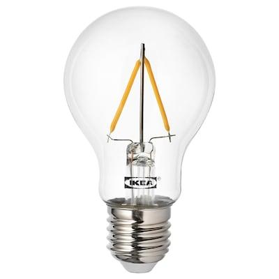 RYET Žárovka LED, E27, 100 lumenů, kulatá čirá