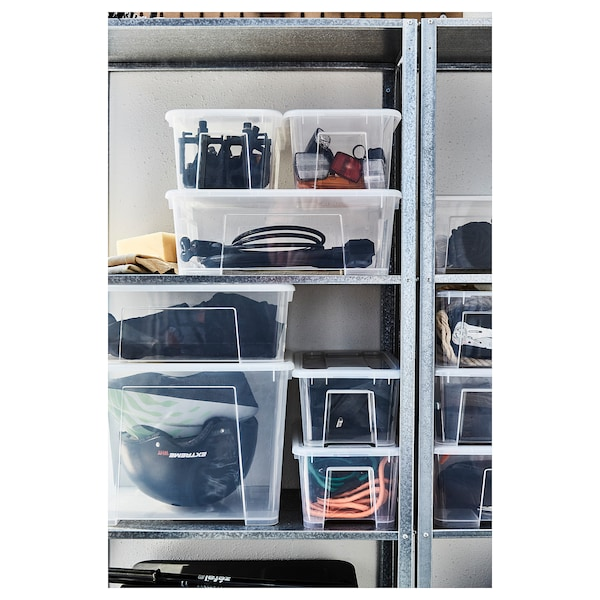 SAMLA Krabice, transparentní, 39x28x14 cm/11 l