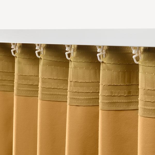 SANELA Zatemňovací závěsy, 1 pár, zlatohnědá, 140x300 cm