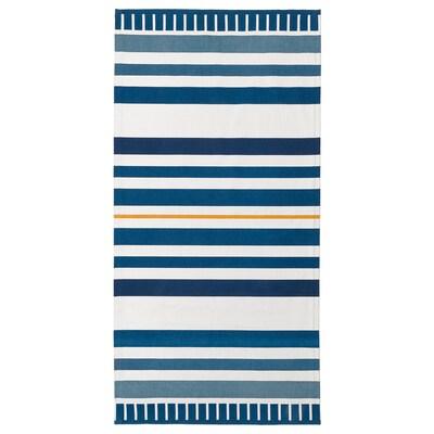 SÅNGLÄRKA Koberec, hladce tkaný, tm.modrá, 80x160 cm