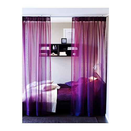 SARITA Závěsy IKEA Tenká, jemná tkanina; propouští světlo. Snadno se upraví do požadované délky za pomoci nažehlovací pásky.