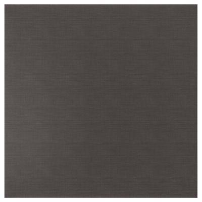 SIBBARP nástěnný panel na míru tmavě šedá vzor len/laminát 10 cm 300 cm 10 cm 120 cm 1.3 cm 1 m²