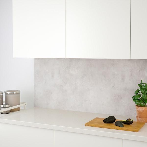 SIBBARP Nástěnný panel na míru, světle šedá imitace betonu/laminát, 1 m²x1.3 cm