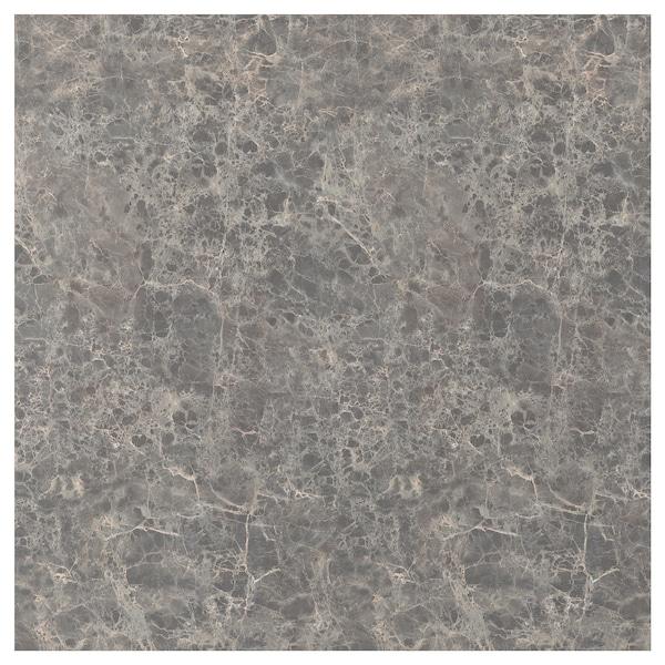 SIBBARP Nástěnný panel na míru, tmavě šedá mramorový efekt/laminát, 1 m²x1.3 cm