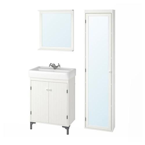 IKEA SILVERÅN / HAMNVIKEN Koupelnový nábytek, sada 6 ks