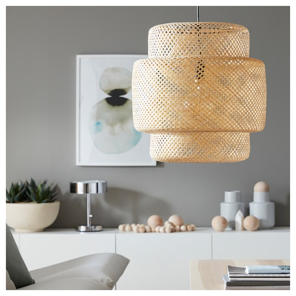 SINNERLIG závěsná lampa bambus 22 W 54 cm 50 cm 1.1 m