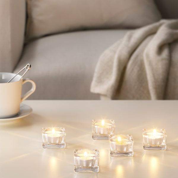 SINNLIG vonná čajová svíčka Sladká vanilka/přírodní 38 mm 4 hod. 30 ks