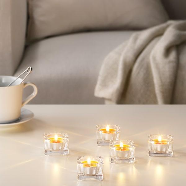 SINNLIG Vonná čajová svíčka, Broskev a pomeranč/oranžová