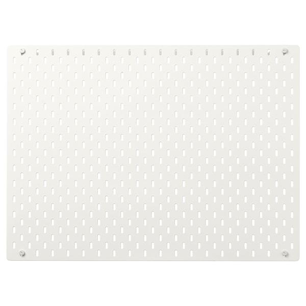SKÅDIS Dírkovaná deska, bílá, 76x56 cm