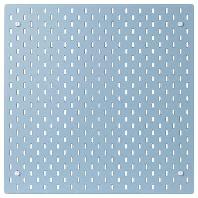SKÅDIS Dírkovaná deska, modrá, 56x56 cm
