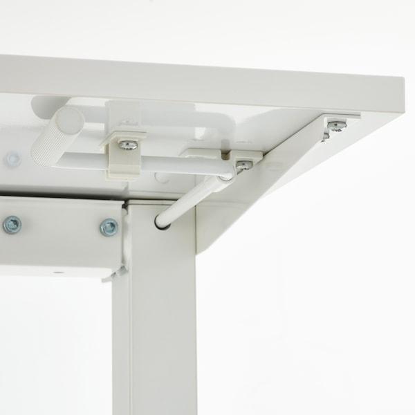 SKARSTA Polohovací stůl, bílá, 120x70 cm