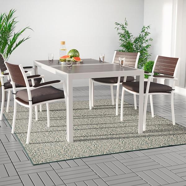 SKELUND hladce tkaný koberec, vn./venk. zeleno-béžová 250 cm 200 cm 4 mm 5.00 m² 1295 g/m²