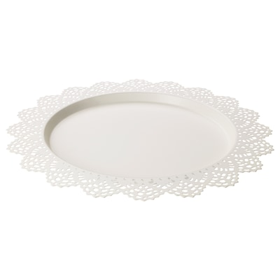 SKURAR Podložka pod svíčky, bílá, 37 cm