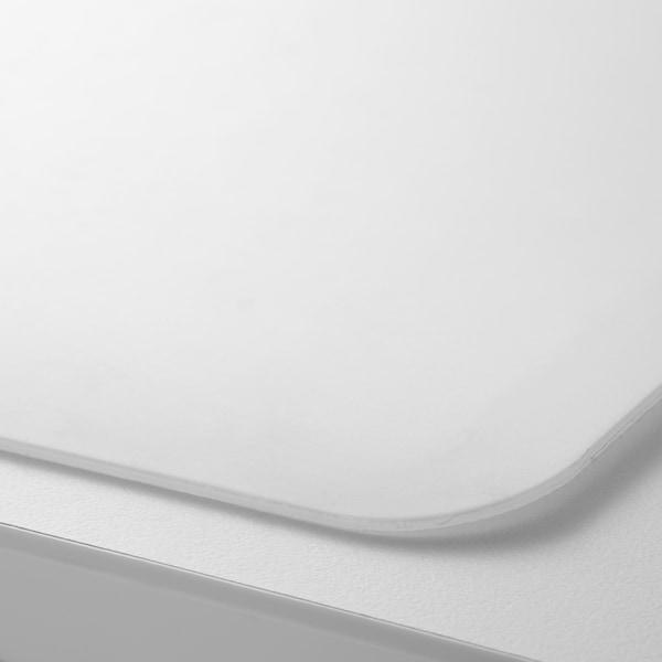 SKVALLRA Podložka na psací stůl, bílá/transparentní, 38x58 cm