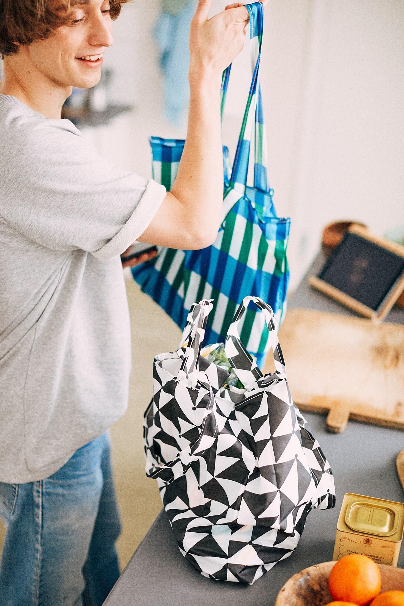 SKYNKE Nákupní taška, modrá/zelená