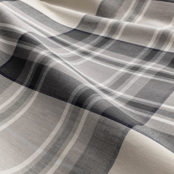 SMALRUTA povlečení na jednolůžko šedá/kostkovaný vzor 152 Palec²  1 ks 200 cm 150 cm 50 cm 60 cm