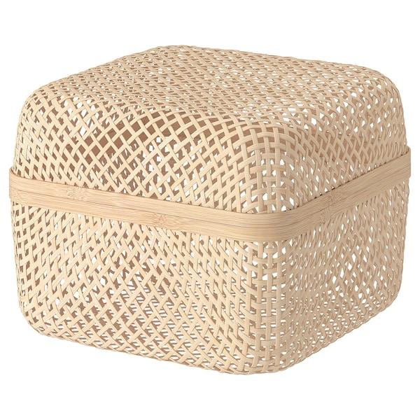 SMARRA Krabice s víkem, přírodní, 30x30x23 cm