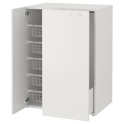 SMÅSTAD Šatní skříň s výsuvným dílem, bílá, 80x57x108 cm