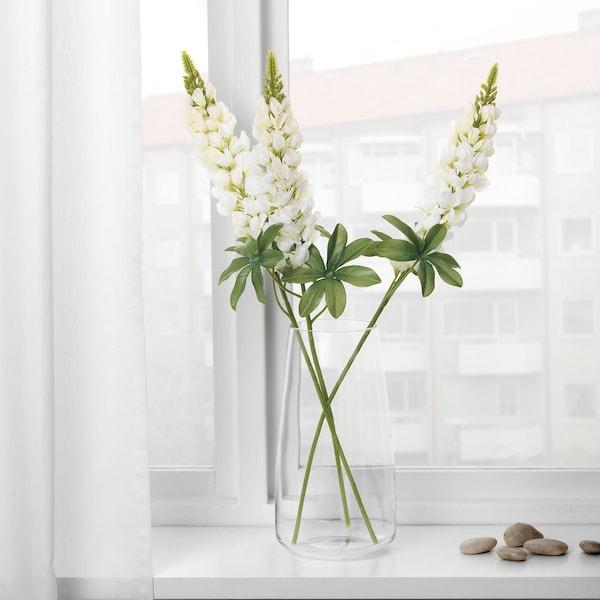 SMYCKA umělé květiny Vlčí bob/bílá 74 cm