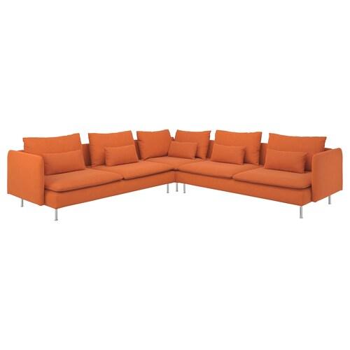 SÖDERHAMN rohová pohovka,6místná Samsta oranžová 83 cm 69 cm 99 cm 291 cm 291 cm 14 cm 70 cm 39 cm