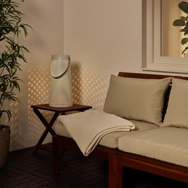 SOLVINDEN Solární stojací lampa LED, kuželový tvar bílá, 45 cm