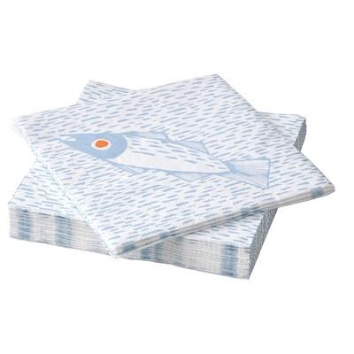 SOMMARDRÖM Papírové ubrousky, 33x33 cm