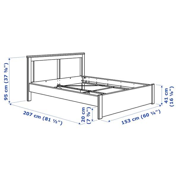 SONGESAND Rám postele, bílá/Luröy, 140x200 cm