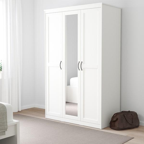 SONGESAND šatní skříň bílá 120 cm 60 cm 191 cm