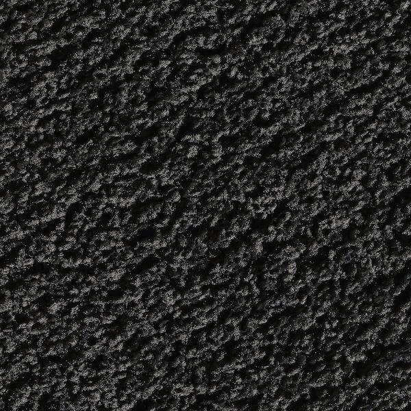 SPORUP Koberec, nízký vlas, černá, 133x195 cm