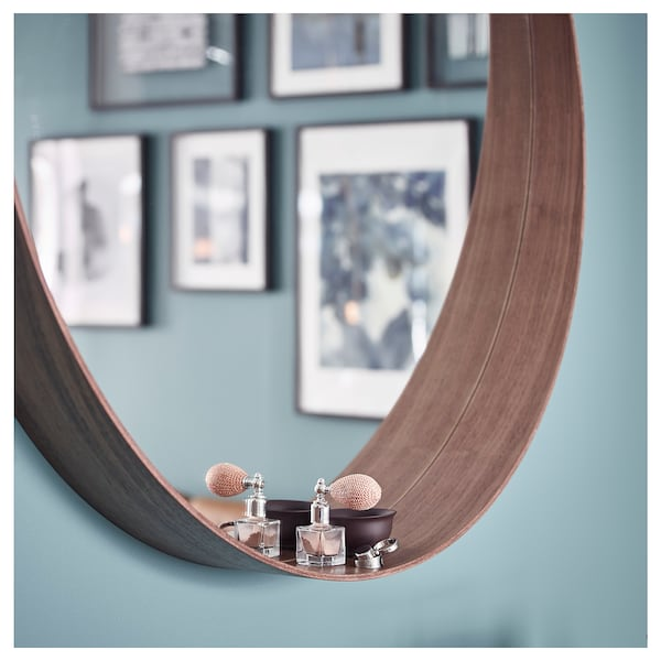 STOCKHOLM Zrcadlo, dýha ořechu, 60 cm