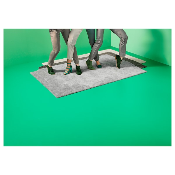 STOENSE Koberec, nízký vlas, tmavě šedá, 200x300 cm