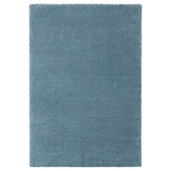 STOENSE koberec, nízký vlas středně modrá 195 cm 133 cm 18 mm 2.59 m² 2560 g/m² 1490 g/m² 15 mm