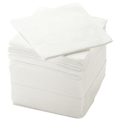 STORÄTARE Papírové ubrousky, bílá, 30x30 cm