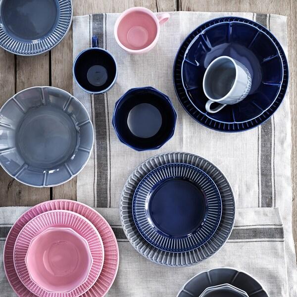 STRIMMIG Dezertní talíř, keramika růžová, 21 cm