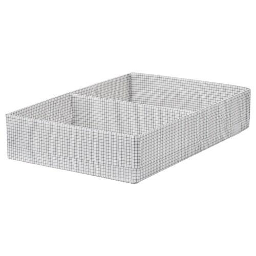 STUK krabice s přihrádkami bílá/šedá 34 cm 51 cm 10 cm