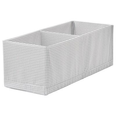 STUK krabice s přihrádkami bílá/šedá 20 cm 51 cm 18 cm
