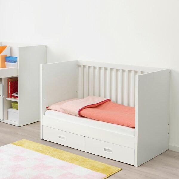 STUVA / FRITIDS dětská postýlka se zásuvkami bílá 126 cm 66 cm 86 cm 60 cm 120 cm 20 kg