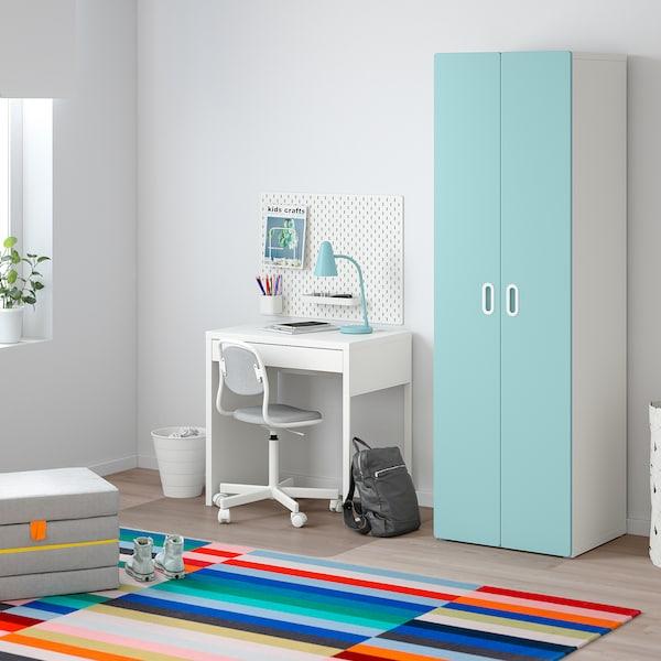 STUVA / FRITIDS Šatní skříň, bílá/sv.modrá, 60x50x192 cm
