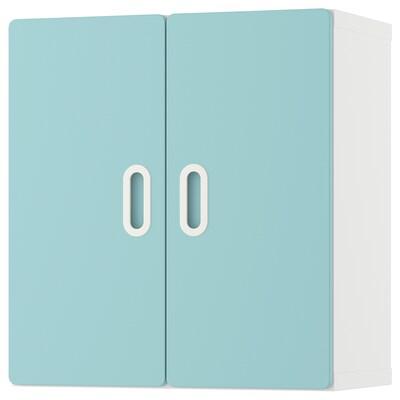 STUVA / FRITIDS nástěnná skříňka bílá/sv.modrá 60 cm 30 cm 64 cm