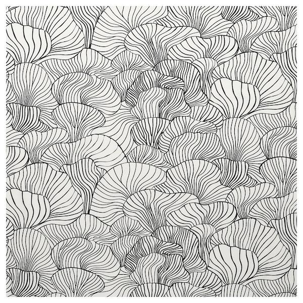 SVAMPMAL Látka, bílá/černá, 150 cm
