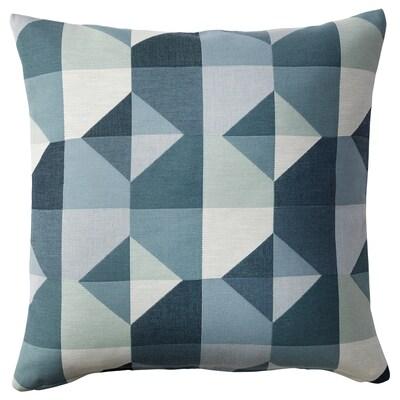 SVARTHÖ Povlak na polštář, zelená/modrá, 50x50 cm