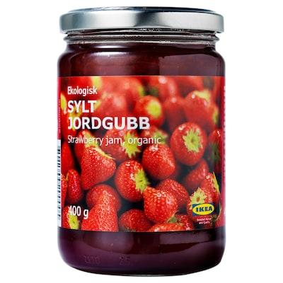 SYLT JORDGUBB Jahodový džem, bio, 400 g