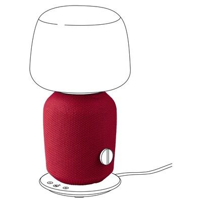 SYMFONISK Kryt na stolní lampu s reprod., červená