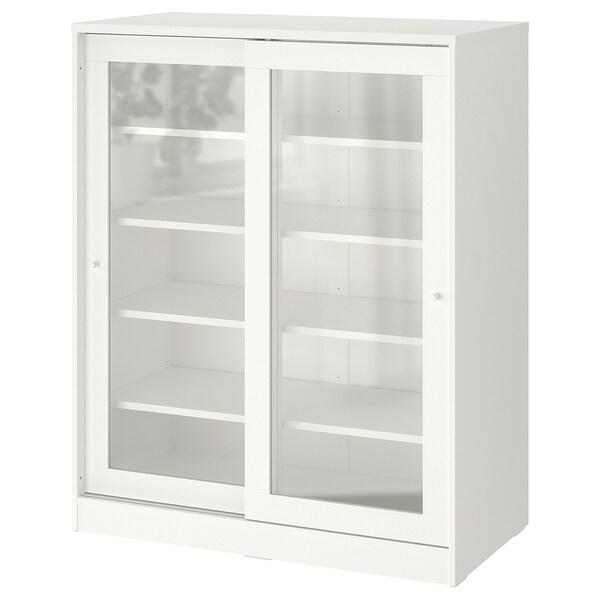 SYVDE Díl skříňky s prosklenými dvířky, bílá, 100x123 cm